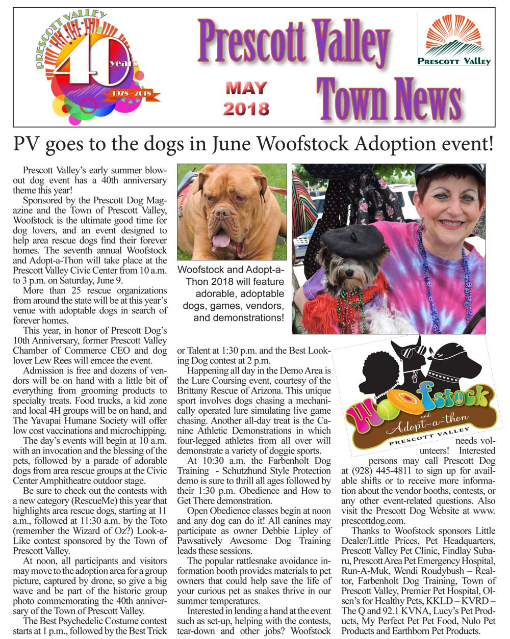 WOOFstock TOPV Newsletter MAY 2018 1