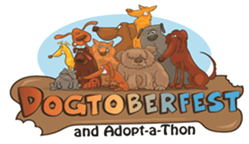 Dogtoberfest and adopt a thon logo